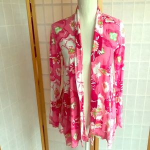LILLY PULITZER Floral Open Cardigan/ Top NWOT